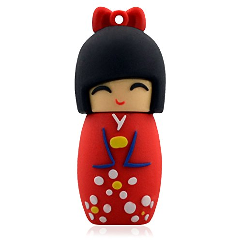 818-Tech-No1110001-Hi-Speed-USB-Sticks-248163264-GB-kimono-de-Japn-Geisha-3D-colour-rojo-0