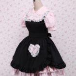Antaina-Vestido-de-Cosplay-de-Lolita-de-Victoriana-de-Encaje-Negra-y-Rosa-con-Volantes-de-algodn-0-1