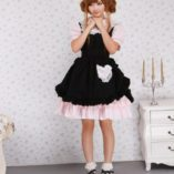 Antaina-Vestido-de-Cosplay-de-Lolita-de-Victoriana-de-Encaje-Negra-y-Rosa-con-Volantes-de-algodn-0-3