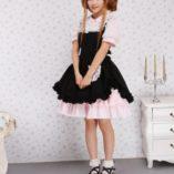 Antaina-Vestido-de-Cosplay-de-Lolita-de-Victoriana-de-Encaje-Negra-y-Rosa-con-Volantes-de-algodn-0-4