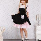 Antaina-Vestido-de-Cosplay-de-Lolita-de-Victoriana-de-Encaje-Negra-y-Rosa-con-Volantes-de-algodn-0-5