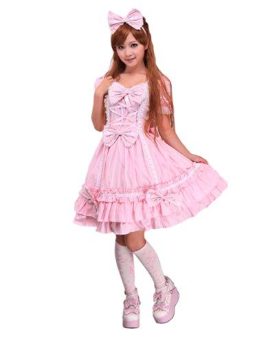Antaina-Vestido-de-Lolita-y-Vestido-de-Lolita-Victoriana-de-Encaje-con-Volantes-en-Algodn-Rosa-0