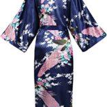 ArtiDeco-Vestido-Kimono-Pijama-de-Seda-Novia-Kimono-de-Seda-Ropa-de-dormir-de-Satn-Estampado-Pavo-Real-0-0