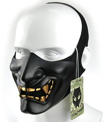 Atairsoft-Mscara-para-disfraz-de-halloween-cosplay-BB-demonio-diablo-monstruo-kabuki-samuri-hannya-oni-mscara-que-cubre-la-mitad-de-la-cara-para-airsoft-pelculas-0