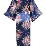 BABEYOND-Kimono-de-Seda-Vestido-de-Satn-Kimono-Pavo-Real-Novia-Pijamas-de-Seda-Bata-de-Satn-135-cm-0-0