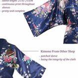 BABEYOND-Kimono-de-Seda-Vestido-de-Satn-Kimono-Pavo-Real-Novia-Pijamas-de-Seda-Bata-de-Satn-135-cm-0-1