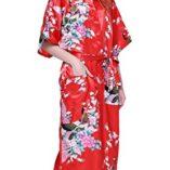 Cityoung-HonourSport-Albornoz-Mujer-Largo-Pava-de-Satn-Camisn-Sexy-Kimono-Vestido-0-0