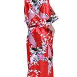 Cityoung-HonourSport-Albornoz-Mujer-Largo-Pava-de-Satn-Camisn-Sexy-Kimono-Vestido-0-2