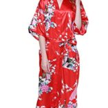 Cityoung-HonourSport-Albornoz-Mujer-Largo-Pava-de-Satn-Camisn-Sexy-Kimono-Vestido-0-3