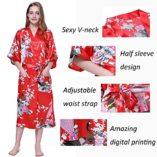 Cityoung-HonourSport-Albornoz-Mujer-Largo-Pava-de-Satn-Camisn-Sexy-Kimono-Vestido-0-4