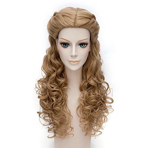 Falamka-marrn-pelo-princesa-estilo-con-mechones-largo-rizado-cosplay-peluca-de-Cenicienta-0