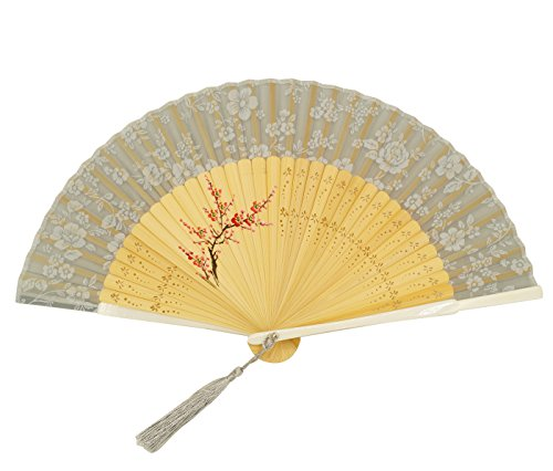 Feoya-Abanico-de-Bamb-Plegable-Dibujo-Flores-Japons-con-Cubierta-para-Boda-Fiesta-Ceremonia-0