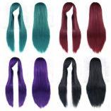 Fouriding-31580cm-peluca-larga-Cosplay-anime-mujer-pelo-largo-peluca-recta-sinttica-diaria-0-1