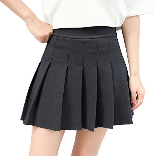 Hoerev-Mujeres-Corto-Cintura-Plisada-Falda-de-la-Escuela-de-Tenis-Skater-0