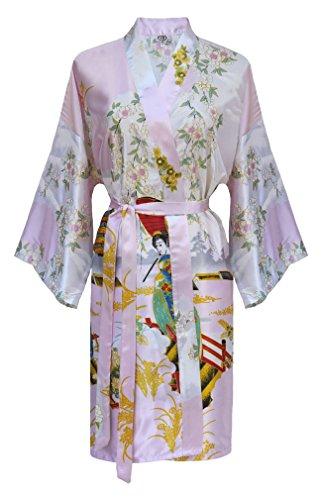 82578029f ✡Kimono Mujer japonesa - bata corta elegante de satén - Hoteles y ...