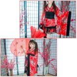 LUOEM-Traje-de-criada-tradicional-japonesa-Kimono-Cosplay-Outfit-Maid-Costume-Dress-Size-S-Red-0-1