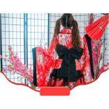 LUOEM-Traje-de-criada-tradicional-japonesa-Kimono-Cosplay-Outfit-Maid-Costume-Dress-Size-S-Red-0-3