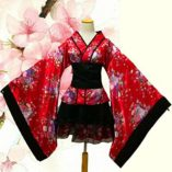 LUOEM-Traje-de-criada-tradicional-japonesa-Kimono-Cosplay-Outfit-Maid-Costume-Dress-Size-S-Red-0-5