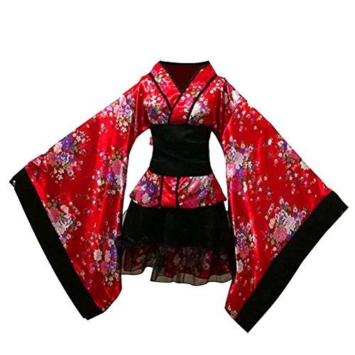 LUOEM-Traje-de-criada-tradicional-japonesa-Kimono-Cosplay-Outfit-Maid-Costume-Dress-Size-S-Red-0