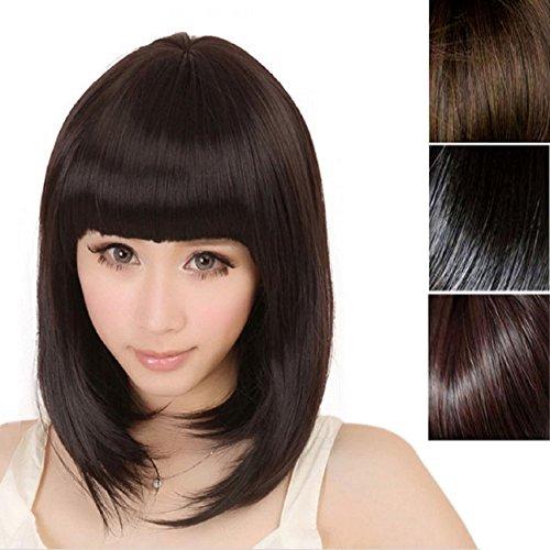 Malloommoda-mujer-corto-derecho-flequillo-completo-BOBO-pelo-sinttico-cosplay-peluca-0