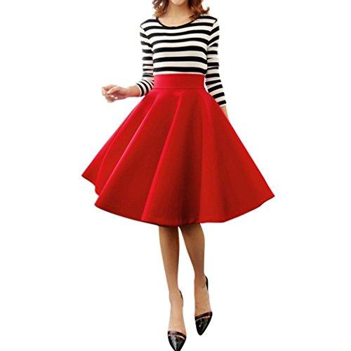 Minetom-Mujeres-Nias-Elegante-Afueras-Rodilla-Longitud-Cintura-Alta-Minifalda-Falda-Plisada-Vestidos-0