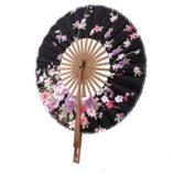 Plegable-Crculo-Abanico-de-Estilo-Japons-con-Dibujos-Flores-Sakura-0-4