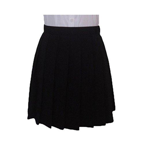 QIYUNZ-Moda-Cosplay-Japones-Plisadas-Alta-Cintura-Uniformes-Estudiantiles-Faldas-De-Color-Solido-0