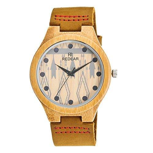 Reloj-de-Madera-de-bamb-para-Hombre-Cuarzo-japons-y-con-la-Correa-de-Cuero-Genuino-0