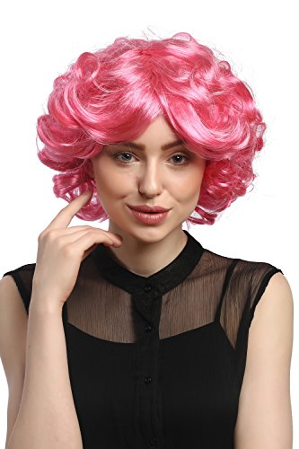WIG-ME-UP–DEC31-PC2841-Peluca-seoras-Cosplay-Carnaval-Cortos-rizos-Rosa-Pink-voluminoso-Popstar-80-0